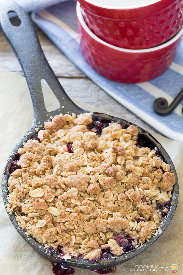 Fresh Cherry Crisp | Cooking on the Front Burner