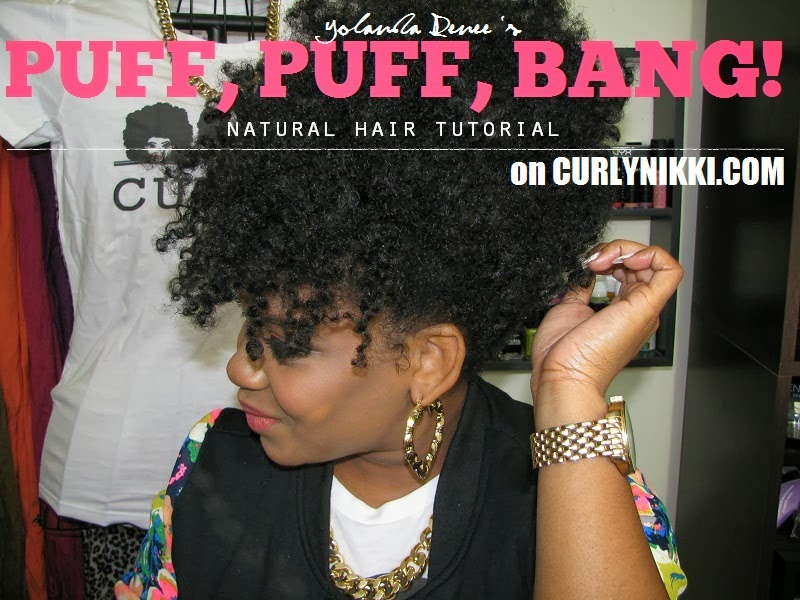 Natural Hair Style Puff Bangs