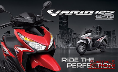 Honda Vario 125 Esp 2016, Honda Vario 125 Esp Merah, Honda Vario 125 Esp Iss 2017