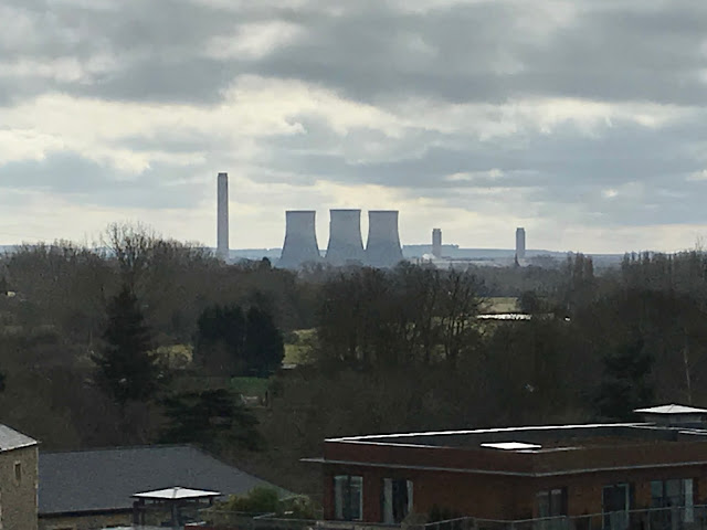 Didcot Power Station from the rooftop of the Abingdon Museum, Oxfordshire