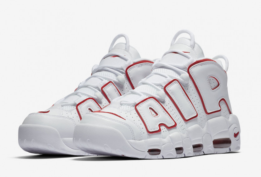 new york 25296 a6a56 First Look  Nike Air More Uptempo  96 White Varsity Red