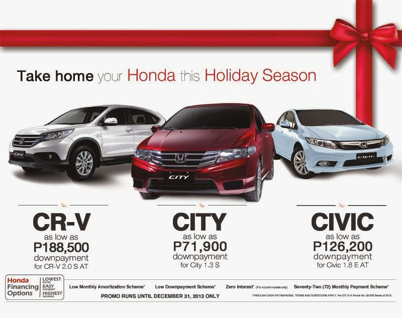 Take Home A Honda This Holiday Season