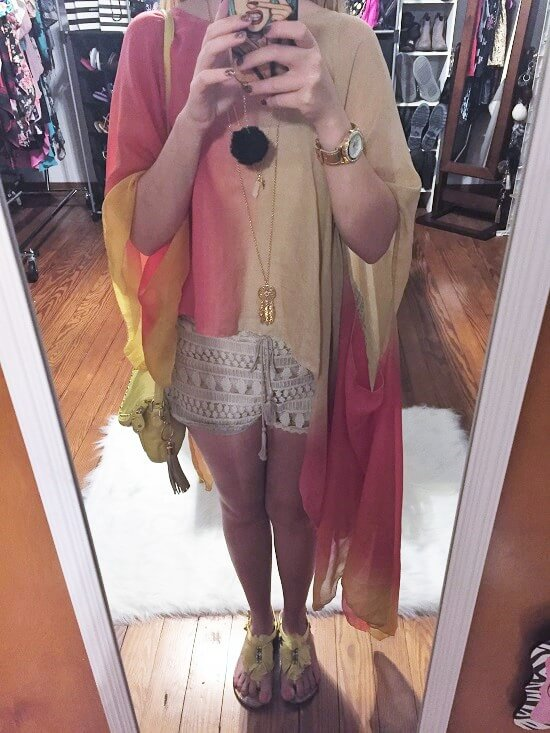 colorful festival kimono outfit of the day