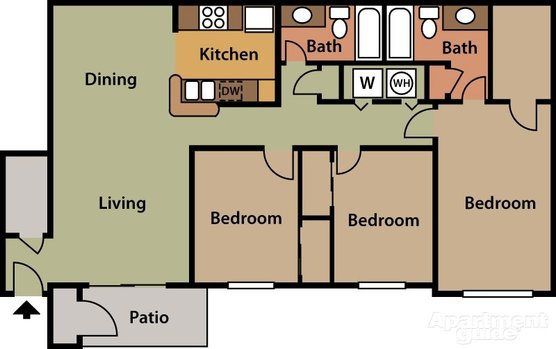 Plan Petite Maison 3 Chambres   Plan De Maison Tous Nos Plans Et Idées Pour  Une