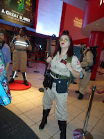 Lily Stitches with Ghostbusters at Madame Tussauds for New York Comic Con 2016