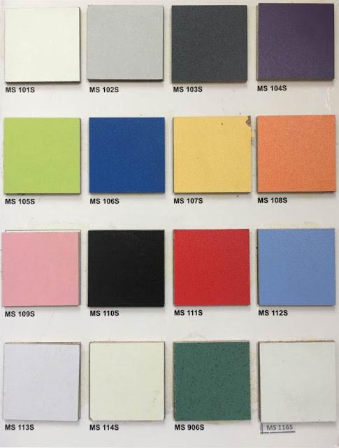 bảng màu melamine cho ván mfc và mdf