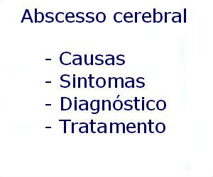 Abscesso cerebral causas sintomas diagnóstico tratamento prevenção riscos complicações