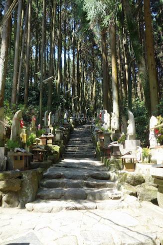 石仏群の参道