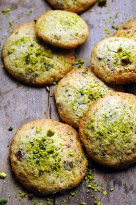 Cookies aux deux chocolats et aux pistaches