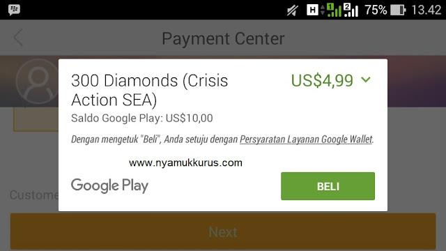 Cara Membeli Diamond Di Game Crisis Action