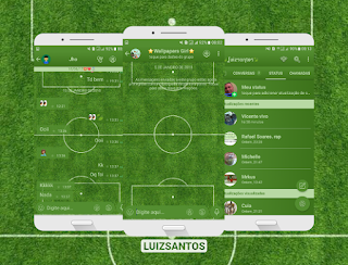 Soccer Field Theme For GBWhatsApp By Luiz Santos