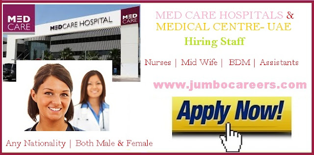 Nursing jobs at Medcare Dubai