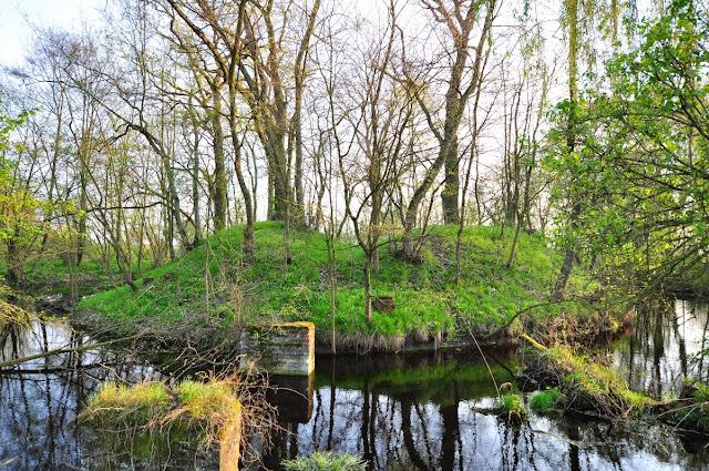 średniowieczne grodzisko stożkowe koło wsi Pomarzanki