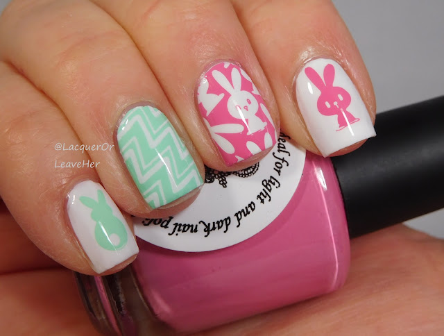 UberChic Beauty Got Chevron 2 and Welcome Spring over Zoya Snow White