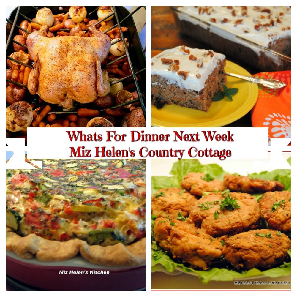 Whats For Dinner Next Week * Week of 9-20-2