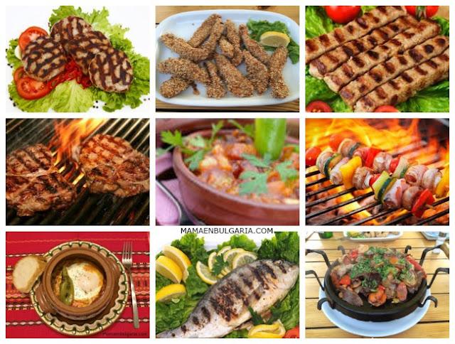 Platos con carne Bulgaria
