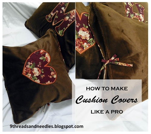cushion cover diy