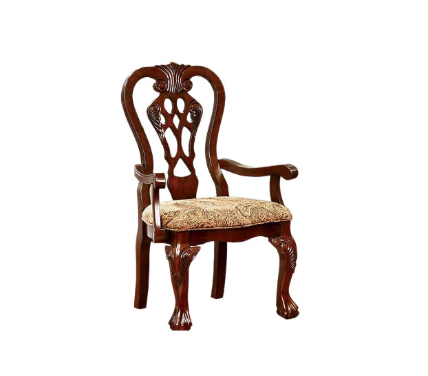 Benzara BM131208, Set of 2, Brown Cherry Elana Established Arm Chair