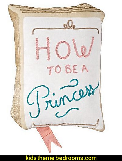 How to be a Princess Throw Pillow princess bedroom fun bedding