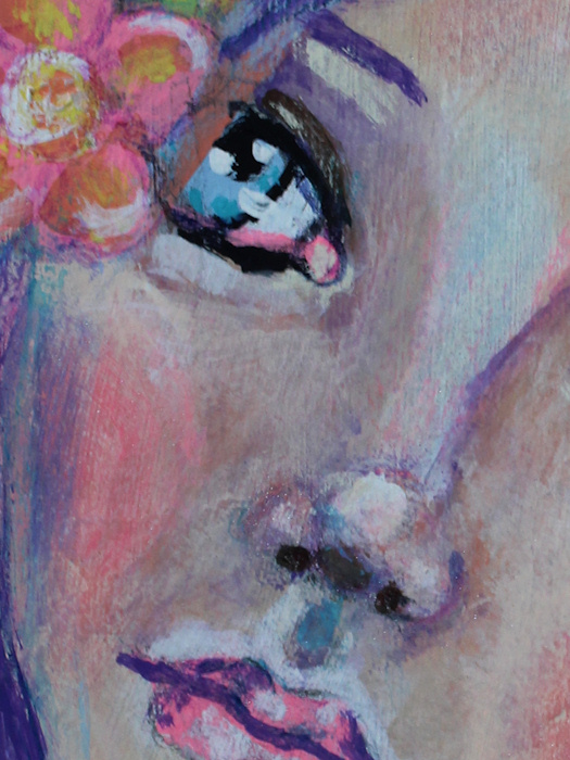 Close Up Detail of Face #5 by Tori Beveridge 2016