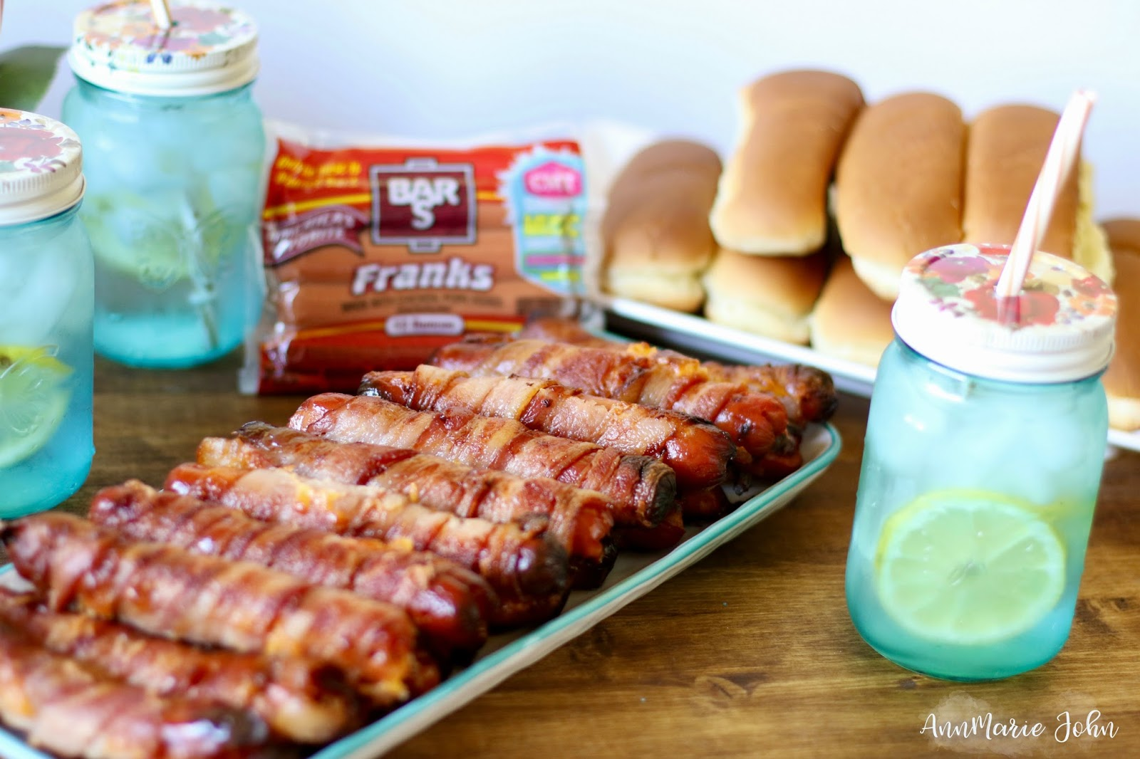 Bacon Cheese Wrapped Franks - #SummerofMusicSweeps #BarSCMTBlogger