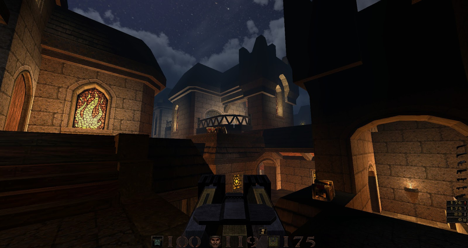 quake arcane dimensions the horde of zendar map looks very much like
