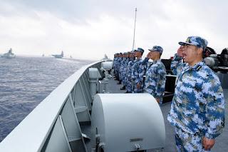 Latihan Militer China di Laut China Selatan
