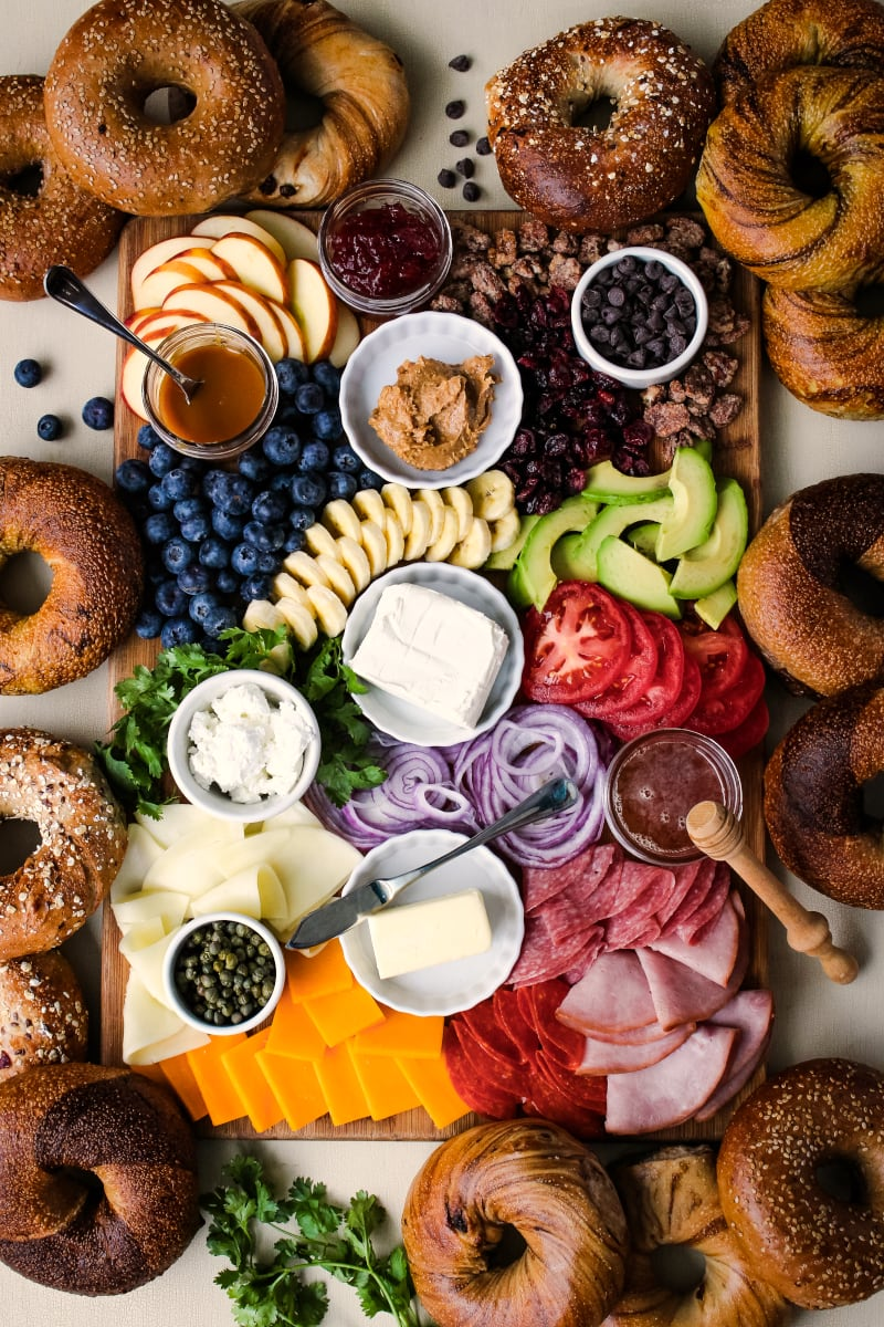 The Ultimate Bagel Brunch Board The Two Bite Club