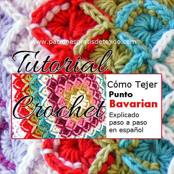puntada bavarian tejida con ganchillo tutorial en video