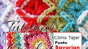 Cómo tejer el punto Bavarian a Crochet / Tutorial
