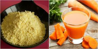 Làm trắng da toàn thân với bột ngô và nước ép cà rốt