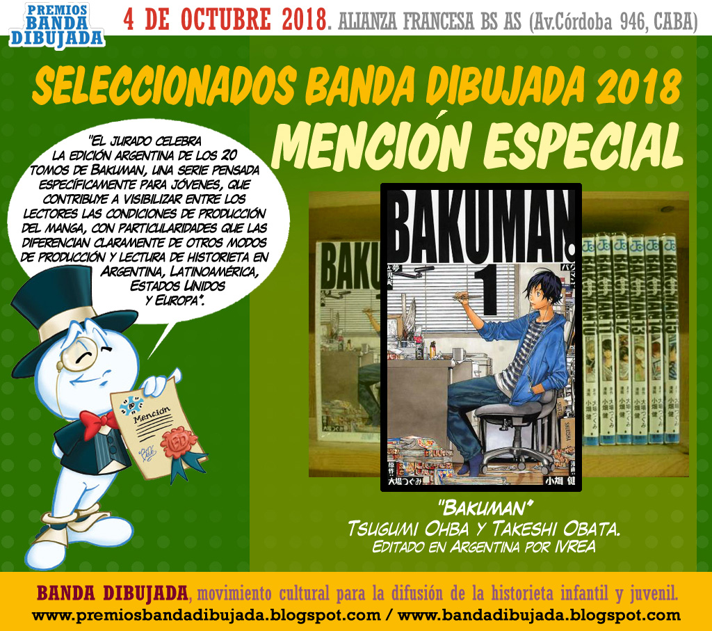 Dijo el Jurado  La editorial Ivrea cumplió con la meta de publicar en  Argentina los 20 tomos que componen Bakuman 885f16517c41