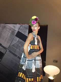 A model posing at the Conservatorium Hotel in Amsterdam