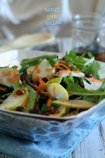 Meatless Monday Vegetarian Pear Recipes - Pear Salad