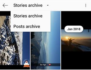 Instagram stories archive