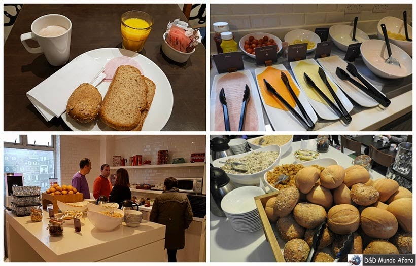 Café da manhã no Hotel Comfort Inn Victoria - Diário de Bordo - 5 dias em Londres