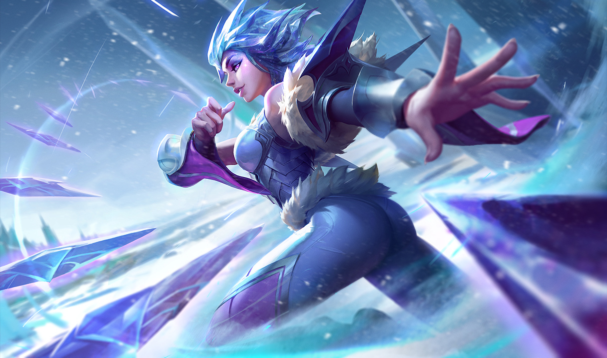 Her Post Rework Splash Art Also Features A Slightly Toned Down One