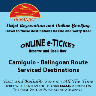OceanJet Camiguin (Benoni)-Balingoan Route Ticket Reservation and Online Booking