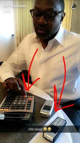 "You need to see the ""old school"" devices billionire Femi Otedola is using"