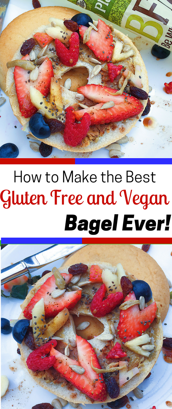 Berry-ful Gluten Free and Vegan Bagels (Allergy-Friendly)