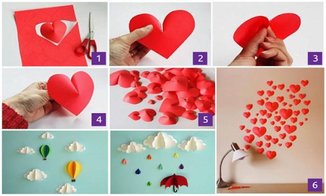 Mudah Kok, Begini Cara Membuat Hiasan Dinding Kelas dari Kertas Origami