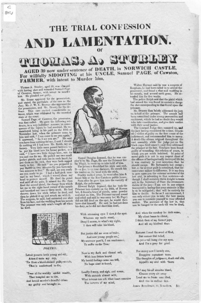 paper-with-illustration-of-Thomas-Aldridge-Sturley-a-broadside-entitled-the-trial-confession-m-lamentation-of-Thomas-a-sturley