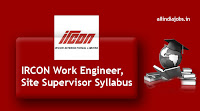 IRCON Work Engineer Syllabus