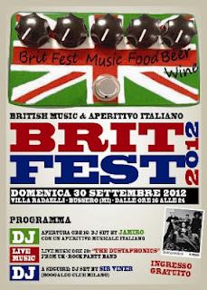 'Brit Fest 2012'… il 30 settembre a Bussero (MI)!