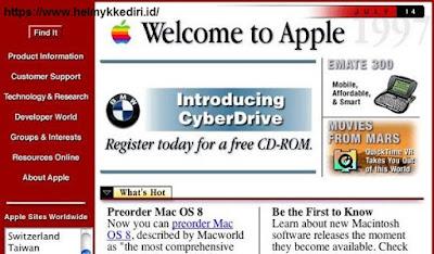 Inilah tampilan pertama kali dari website terkenali