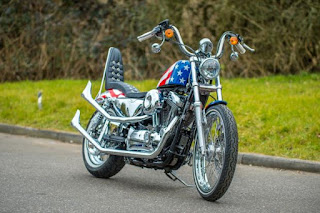 captain america 72 sportster by shaw hd on street front right angle