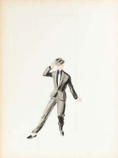 Mary Ann Nyberg Costume Sketch for Fred Astaire in The Band Wagon 1953