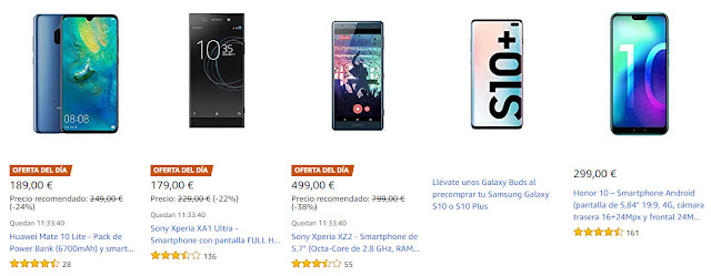 Top 10 ofertas promoción MWC de Amazon