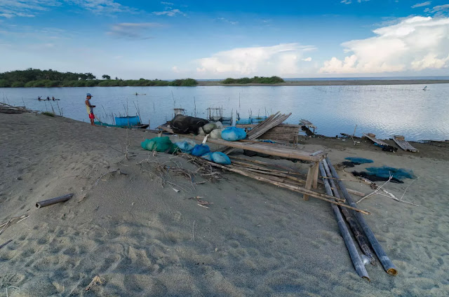 Confluence of Fresh and Salt Water Culili Point Coastal Paoay Ilocos Norte Philippines
