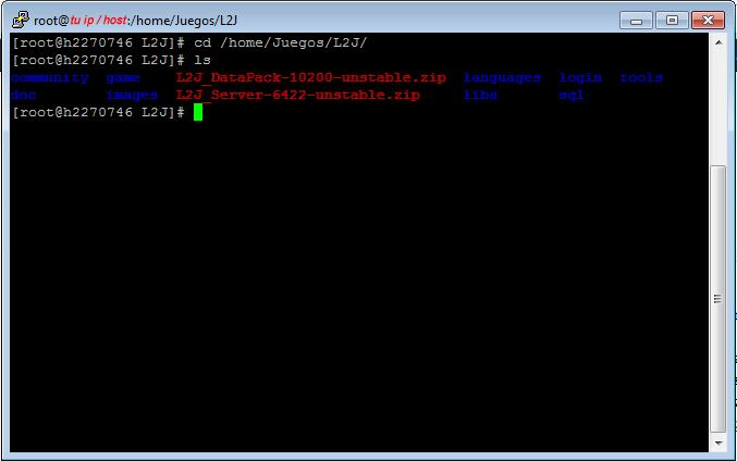 l2j datapack-unstable.zip y l2j server-unstable.zip